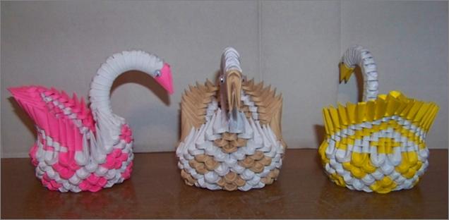 AznLancelot 0 Mini 3D Origami Swans By Aurora Bloodshard