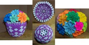 Short 3D Origami Vase