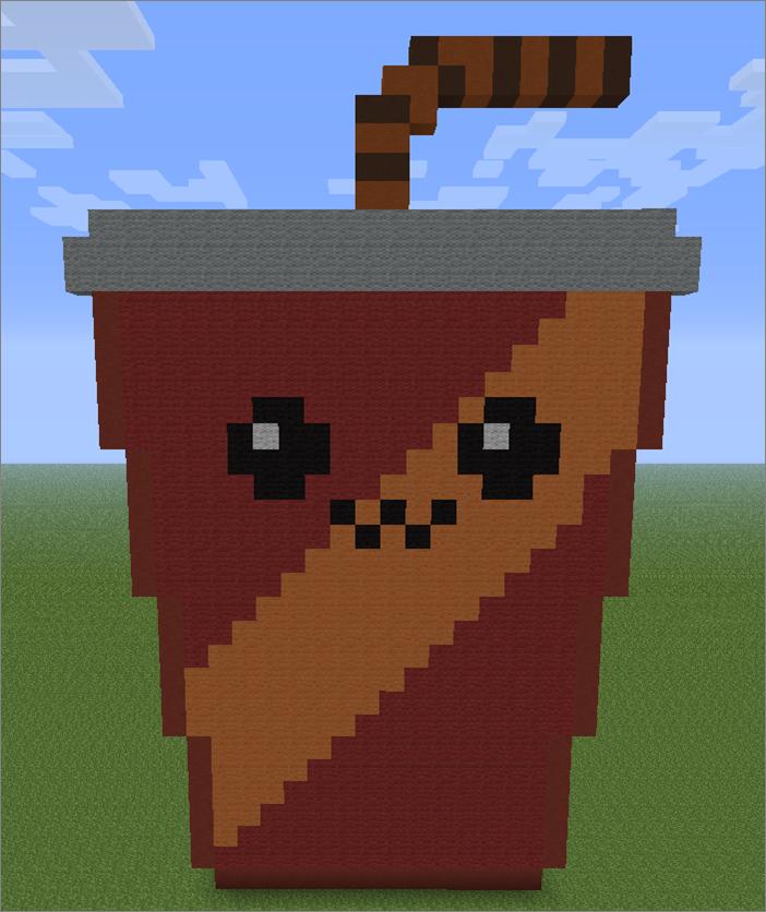 Minecraft Pixel Art Smiling Drink by aurora-bloodshard on ...