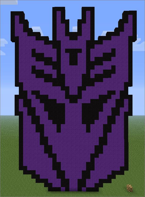 Minecraft Pixel Art Decepticon Logo By Aurora Bloodshard On Deviantart
