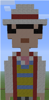 Minecraft Pixel Art Seventh Doctor