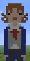 Minecraft Pixel Art Eigth Doctor