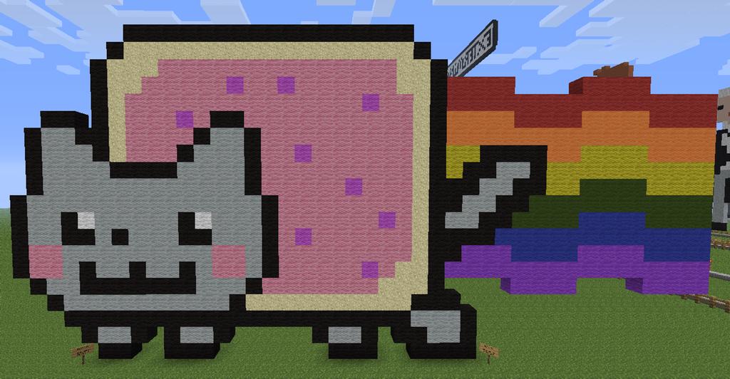 Minecraft Pixel Art Nyan Cat by aurora-bloodshard on ...