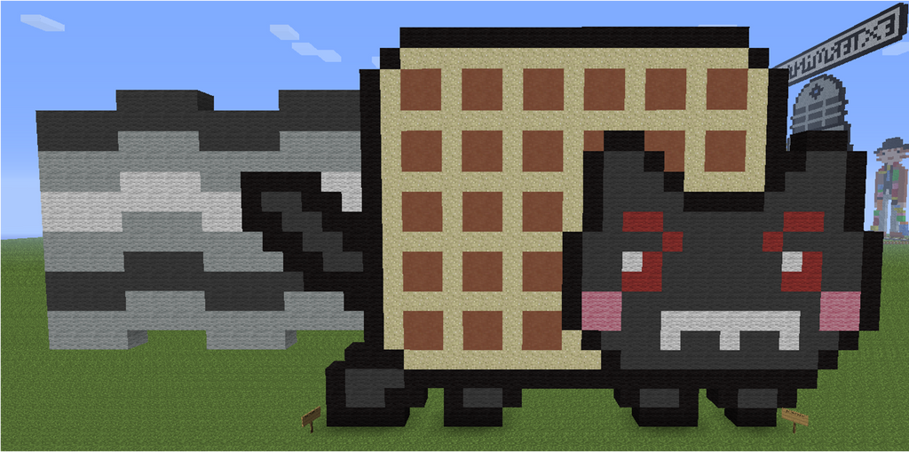 Minecraft Pixel Art Evil Nyan Cat by aurora-bloodshard on ... Evil Nyan Cat Minecraft Grid