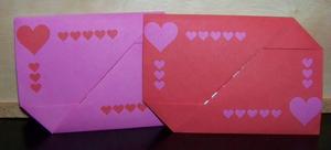 Origami Heart Envolopes