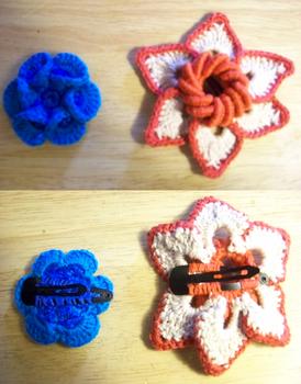 Crochet Hair Clips 1
