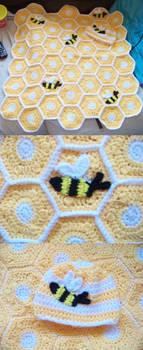 Crochet Bumble Bee Baby Blanket