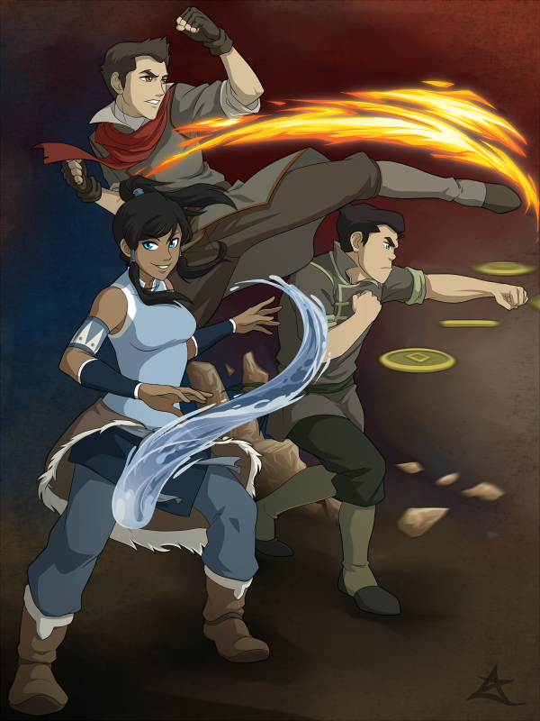 LoK: Fire Ferrets by AzureStarr