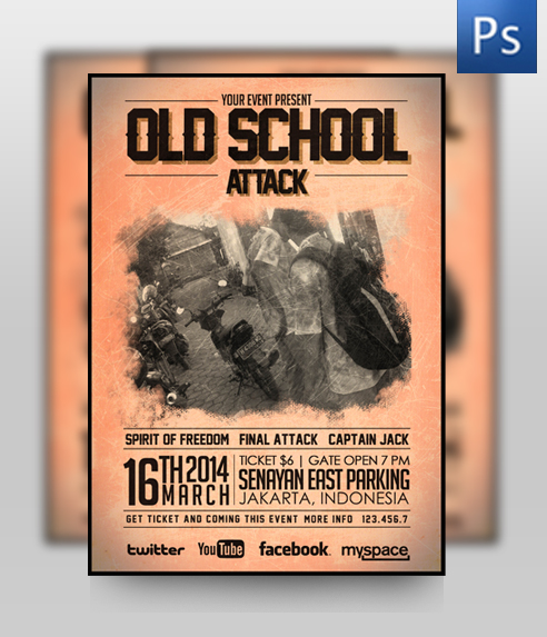 Old School Music Flyer Template by ThinHo on DeviantArt