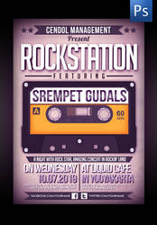 Rockstation Music Flyer Template by ThinHo