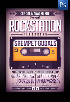 Rockstation Music Flyer Template