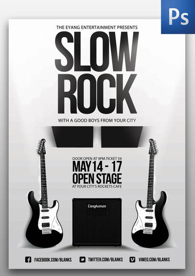 Slow Rock Flyer Template By Thinho On Deviantart