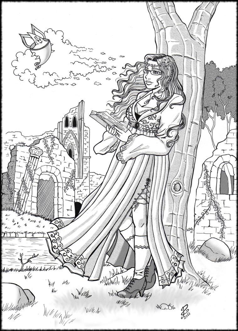 Commiss: Daydreaming Selene by PammyArt