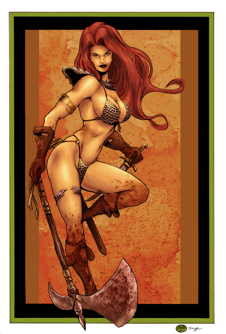 Red Sonja_the Color Version by MichaelBair