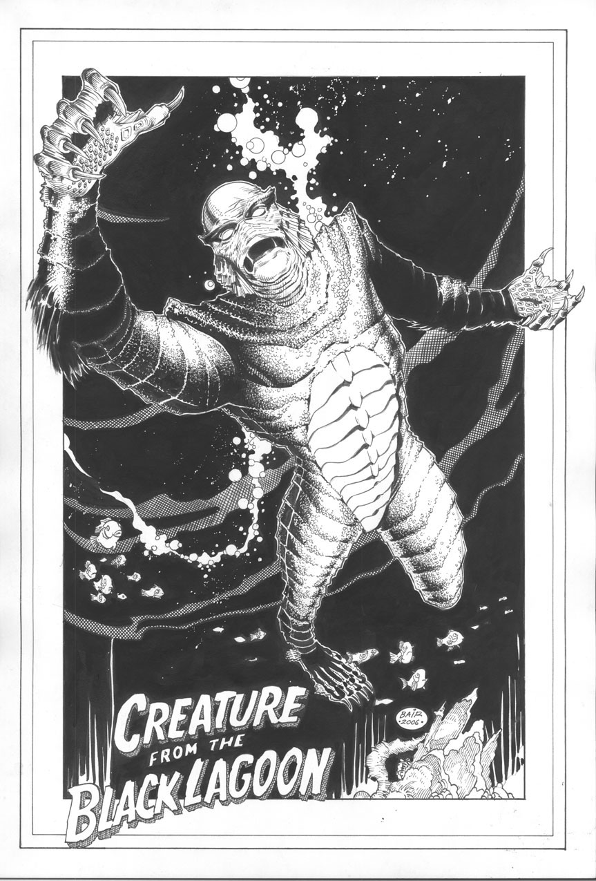 Creature from the black lagoon by michaelbair on deviantart for Creature from the black lagoon coloring pages