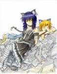 NekoMiho and KuroNekoPiro