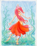 Dance of a Dangerous Eight-Tail (Color)