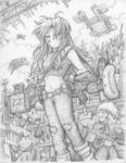 Ph33r T3h Cute On3s - Mopping Up (Pencil)
