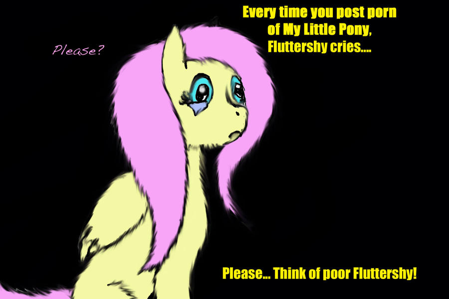 Fluttershy Vs. Rule 34 by crownvetchponylover9