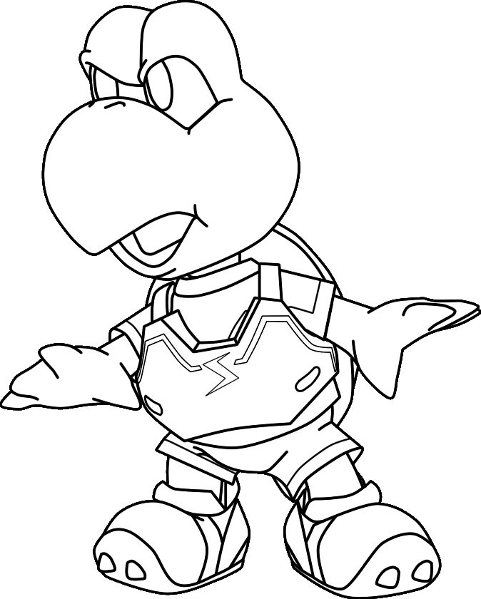 Color Me In - Koopa Troopa by silverhammerbro on DeviantArt