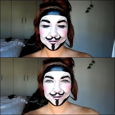 V Vendetta Make up by Arisusandasu