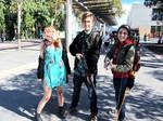 Clicker Joel and Ellie cosplay