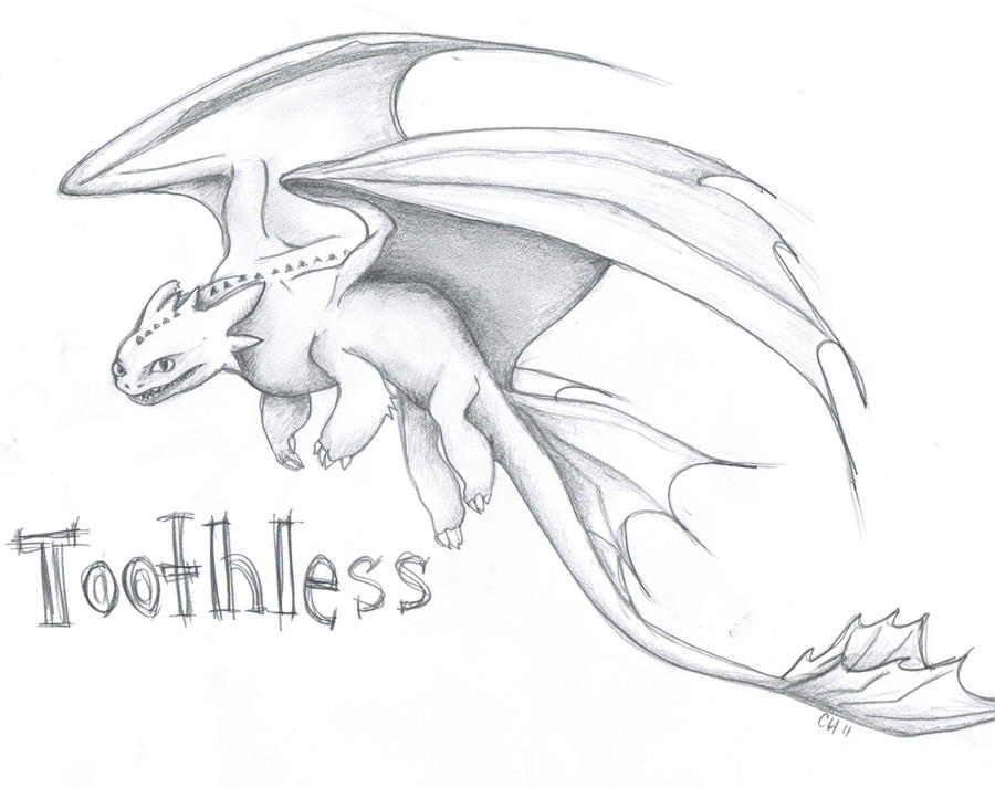 Drawing of Toothless