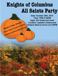 Knights of Columbus All Saints Party Flyer