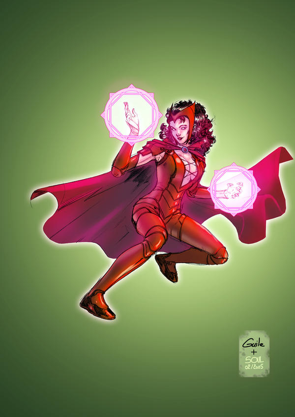 Scarlet witch by SpiderGuile