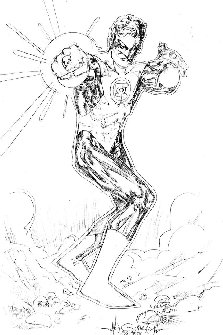 Green lantern hal jordan by spiderguile on deviantart for Green lantern coloring page