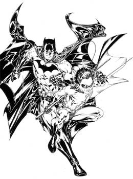Batman and Robin inks