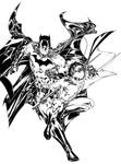 Batman and Robin inks