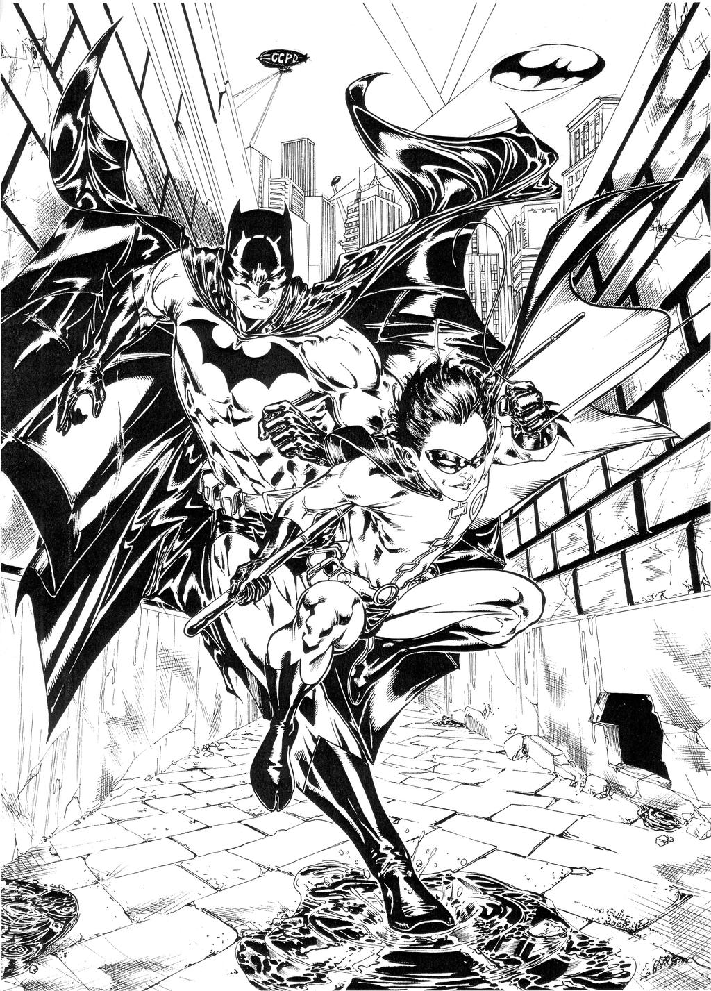 batman and robin in back alley by spiderguile on deviantart