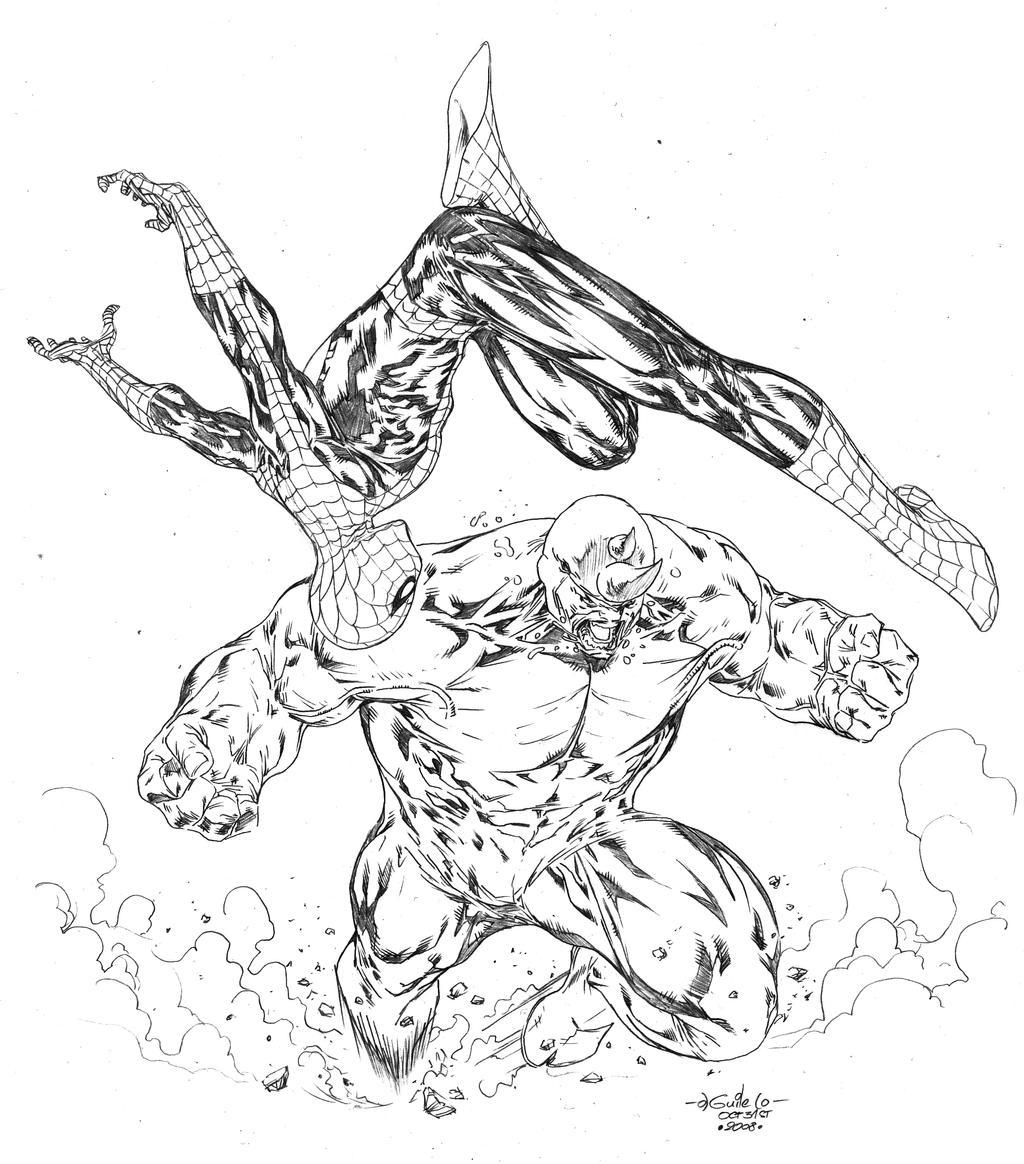 Atractivo Veneno De Spiderman Para Colorear Bosquejo - Dibujos Para ...
