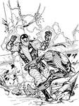 Spidey vs Shocker - DevG inks