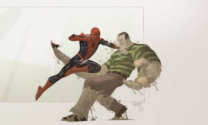 Spidey VS Sandman with Cheeks