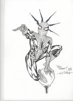 Lamp post Spidey by SpiderGuile