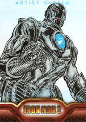 Iron Man 2 sketchcards 19 by SpiderGuile