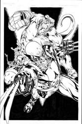 Hellboy and Wolverine by SpiderGuile