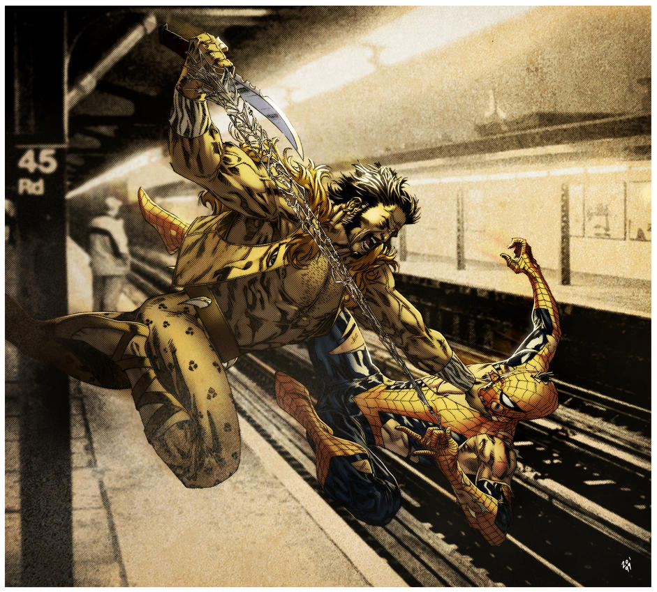 Kraven vs Spidey - subway mode by SpiderGuile