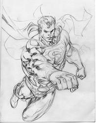 Superman wip sketch by SpiderGuile