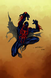 Spider-Man 2099 Sebs color by SpiderGuile