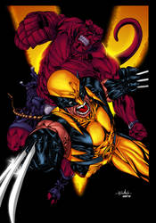 Wolvie and Hellboy - Comicero by SpiderGuile