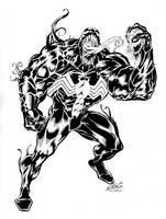 Venom - Elliot Fernandez inked by SpiderGuile