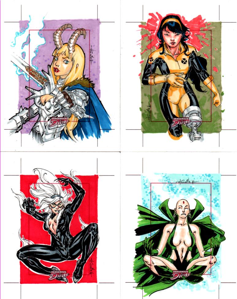 Marvel Dangerous Divas cards 4 by SpiderGuile