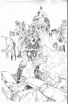 Thor in fallen Asgard by SpiderGuile