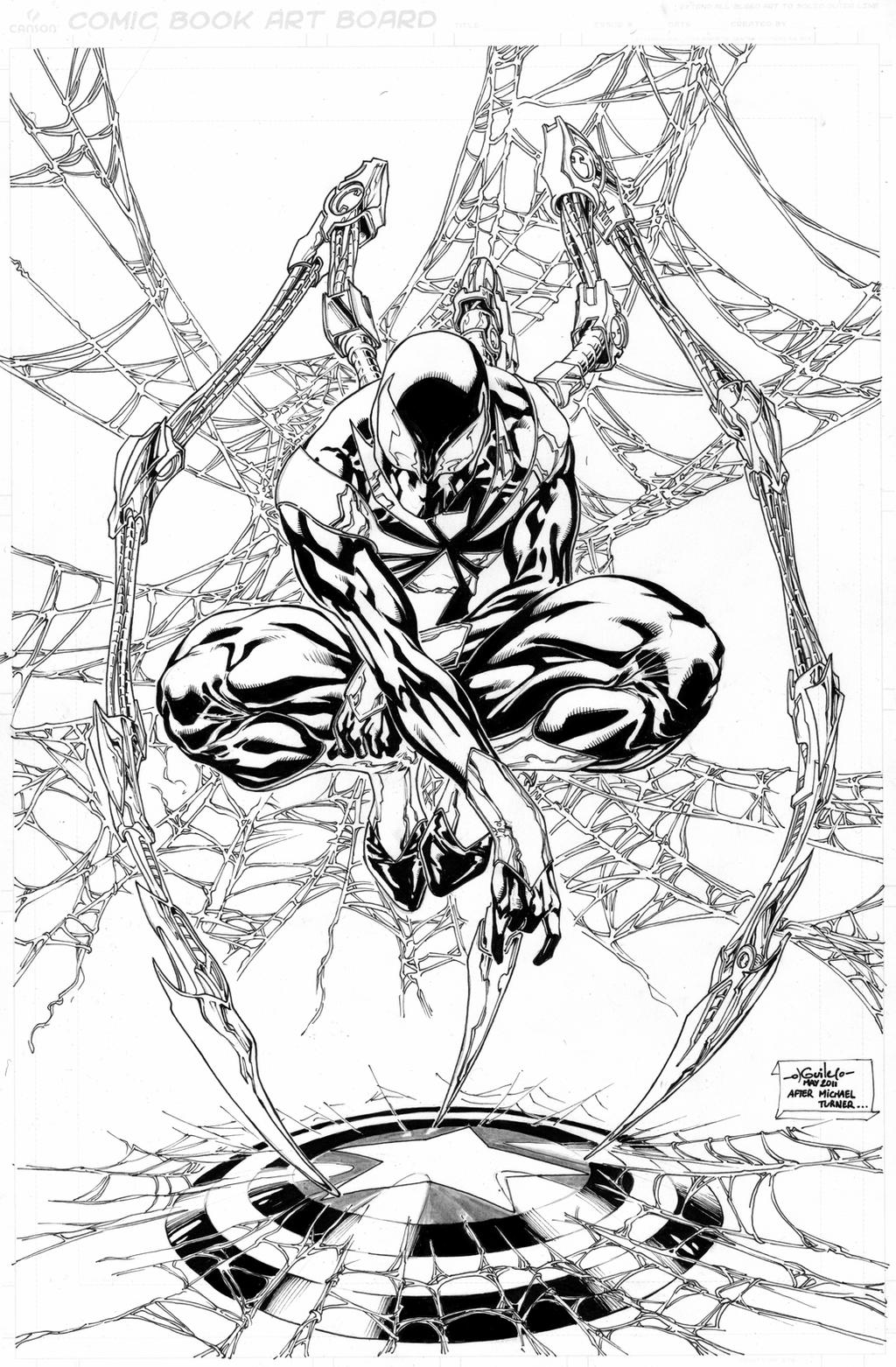 Uncategorized Iron Spider Coloring Pages iron spider man commission by spiderguile on deviantart spiderguile