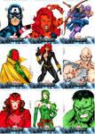Avengers sketchcards set 1