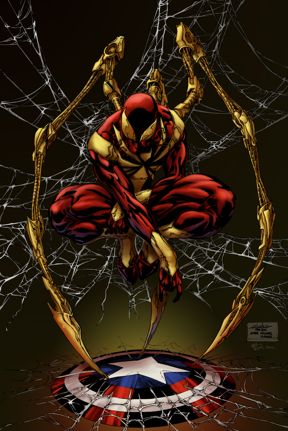 Iron Spider Costume iron spider man   misda colors
