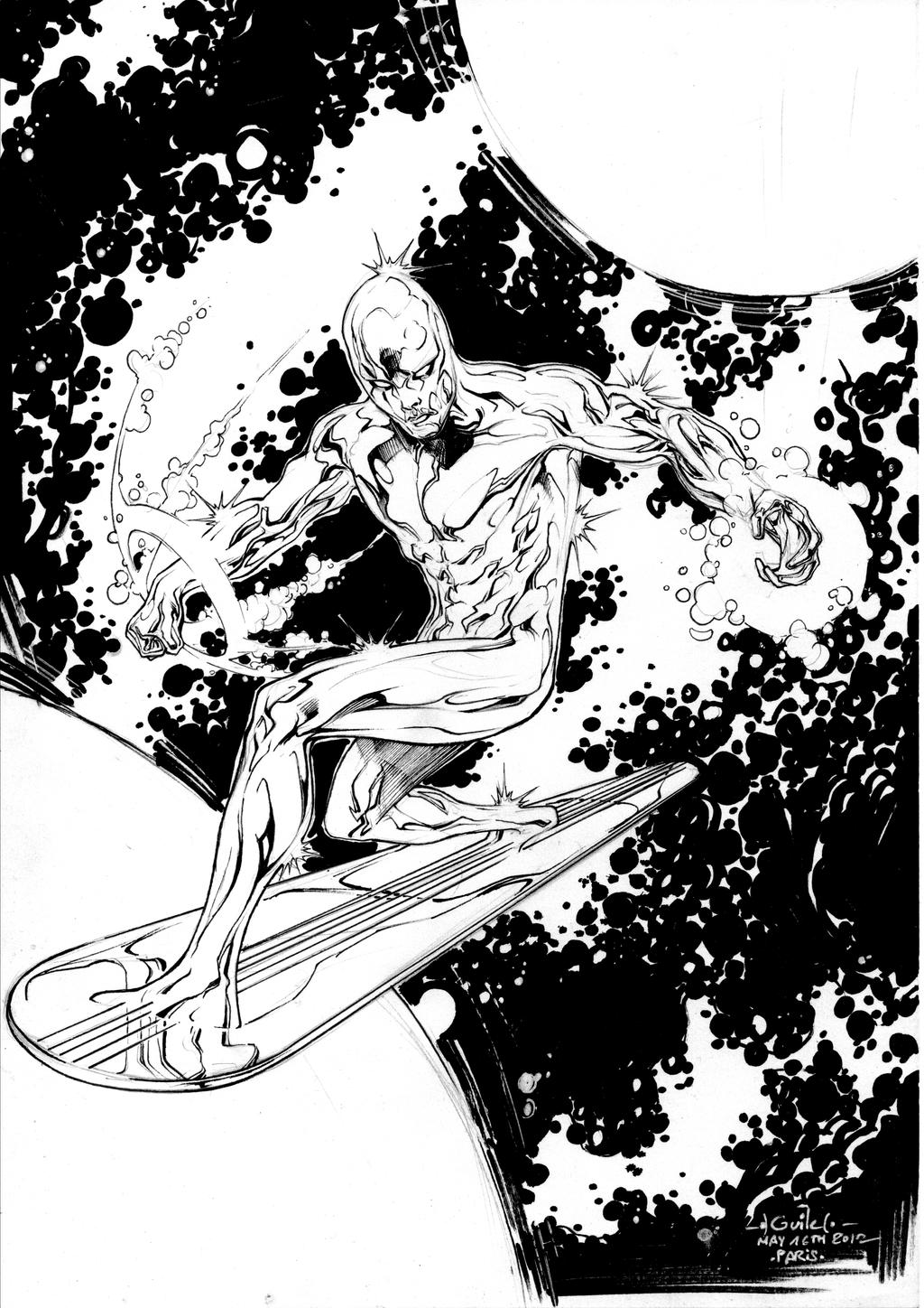 Silver Surfer - Drink'n'Draw May 16th 2012 by SpiderGuile